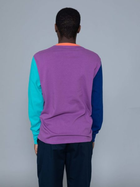 Aime Leon Dore Long Sleeve Colors Blocked Logo Purple sale
