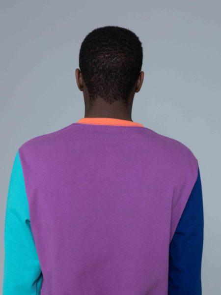 Aime Leon Dore Long Sleeve Colors Blocked Logo Purple streetwear
