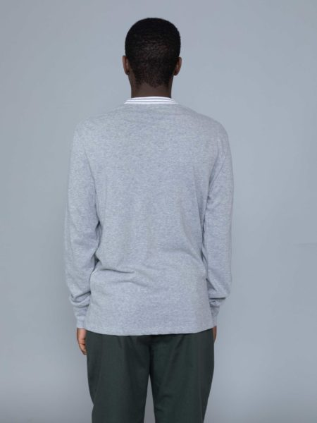 Aime Leon Dore Long Sleeve Ribbed Collar Grey brussels shop