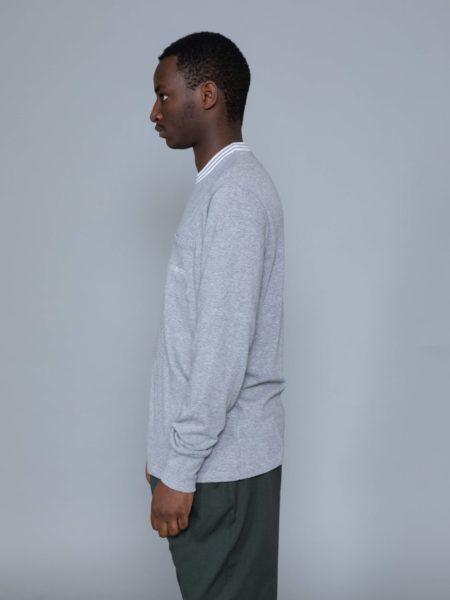 Aime Leon Dore Long Sleeve Ribbed Collar Grey new york