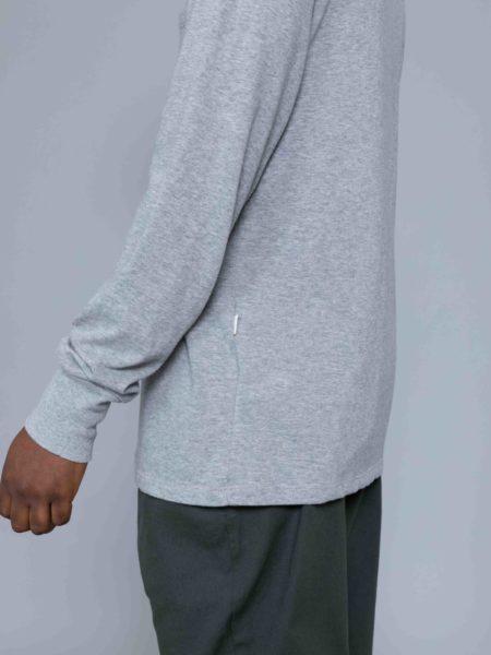 Aime Leon Dore Long Sleeve Ribbed Collar Grey sale