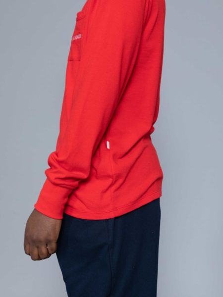 Aime Leon Dore Long Sleeve Ribbed Collar Red sale