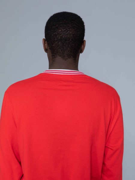 Aime Leon Dore Long Sleeve Ribbed Collar Red sales