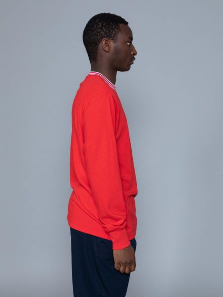 Aime Leon Dore Long Sleeve Ribbed Collar Red shop brussels