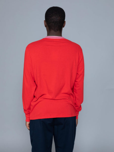 Aime Leon Dore Long Sleeve Ribbed Collar Red store brussels