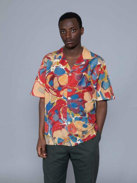 Drole de Monsieur Marble Shirt french designer