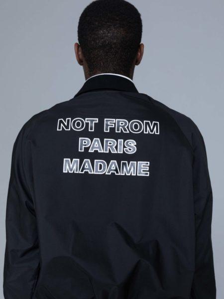 Drole de Monsieur NFPM Varsity Jacket Black