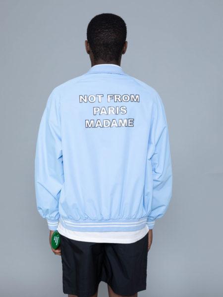 Drole de Monsieur NFPM Varsity Jacket Blue streetwear