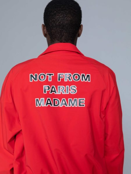Drole de Monsieur NFPM Varsity Jacket Red brussels