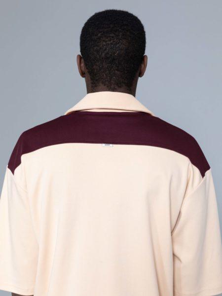 Drole de Monsieur Notched Collar Polo