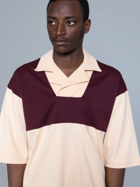 Drole de Monsieur Notched Collar Polo sale