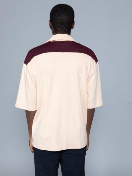 Drole de Monsieur Notched Collar Polo tshirt