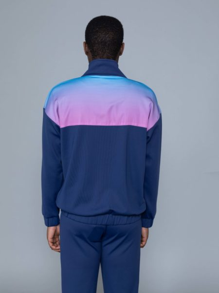 Drole de Monsieur Shaded Satin Track Jacket clothing store