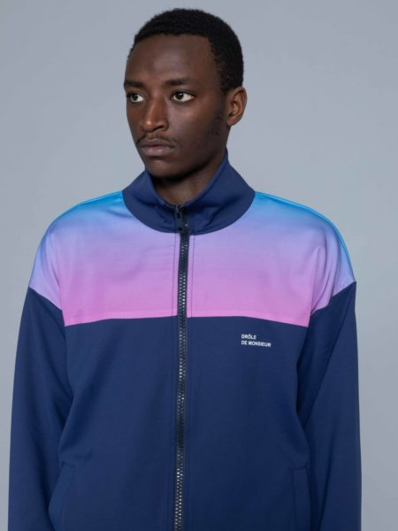 Drole de Monsieur Shaded Satin Track Jacket sale