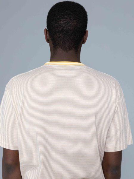 Nanamica Stripe Tshirt Mustard brussels