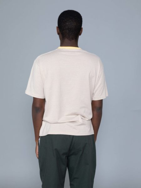 Nanamica Stripe Tshirt Mustard online shop