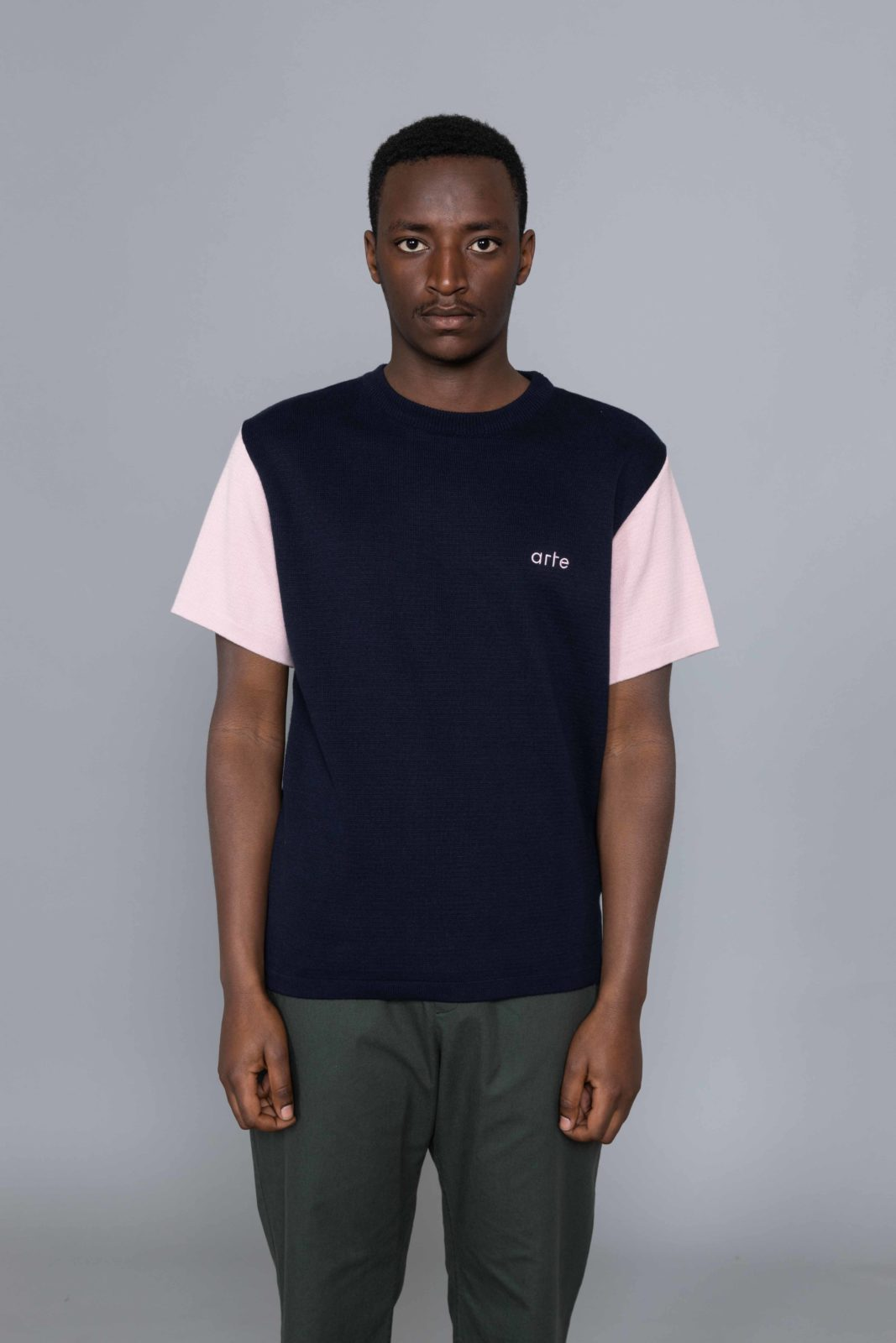 299374887fa Arte Antwerp Keo Knitted Tshirt Navy • Centreville Store in Brussels