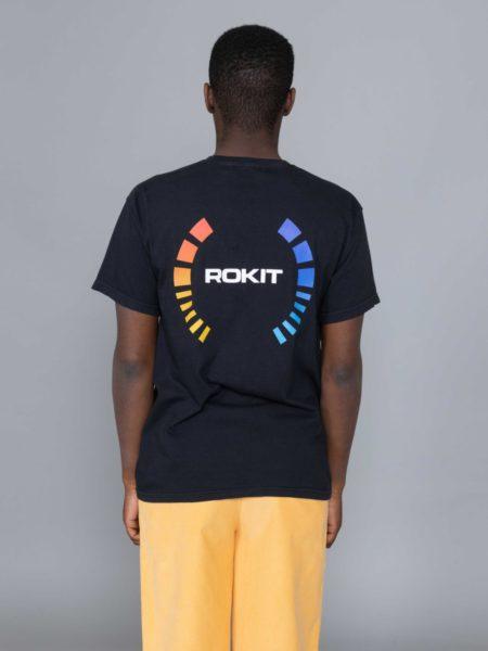 Rokit Golden SS Tshirt Black clothing shop