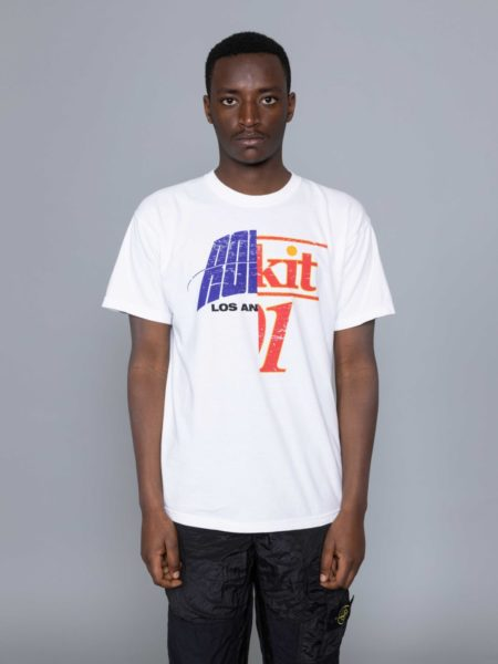 Rokit Throwback SS Tshirt White sale