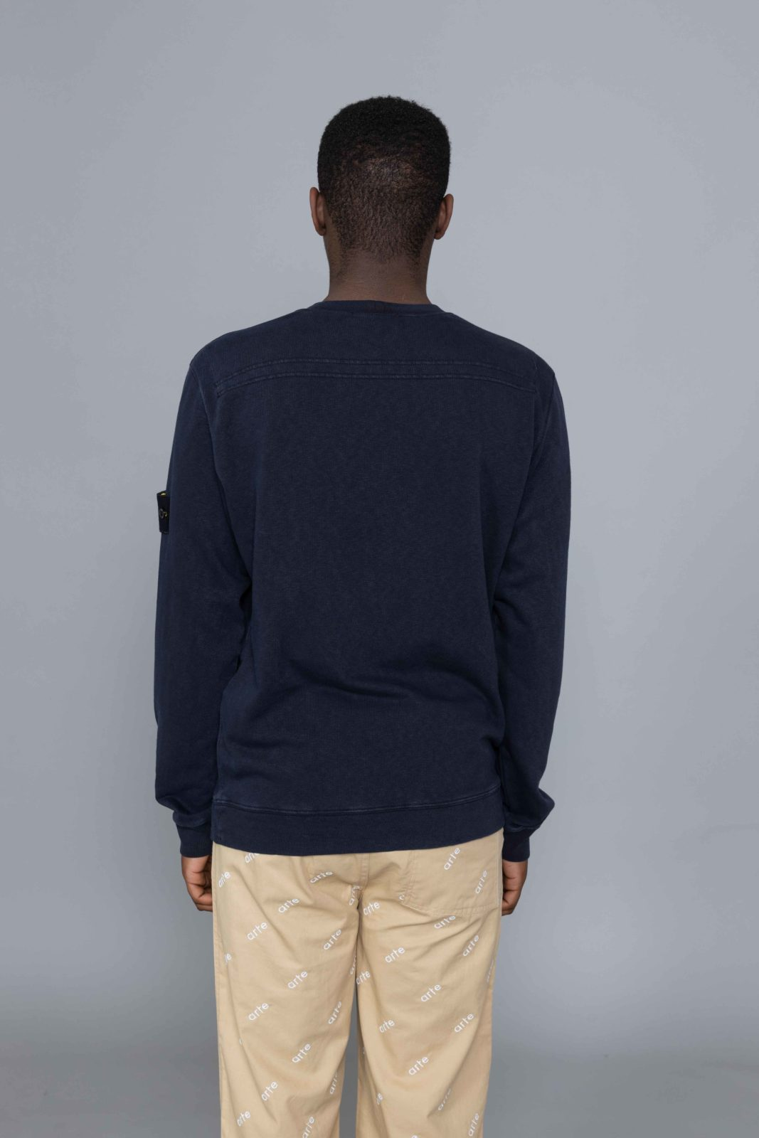 online store 6860c d9cf6 Stone Island Old Effect Sweat Dark Navy outlet ...