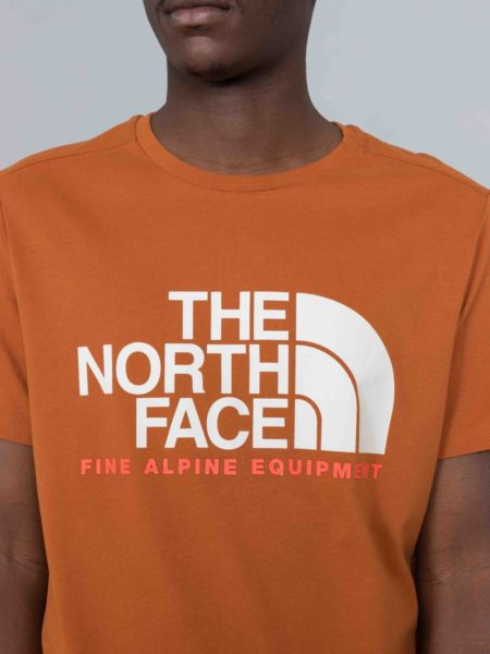 The North Face Fine Alpine Equipement Tshirt Caramel Cafe brussels shop