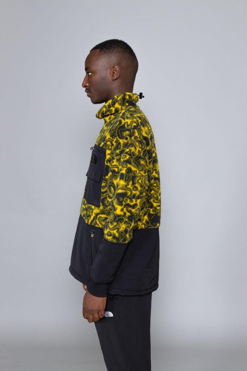 94 Rage Fleece Pullover Leopard Yellow Print