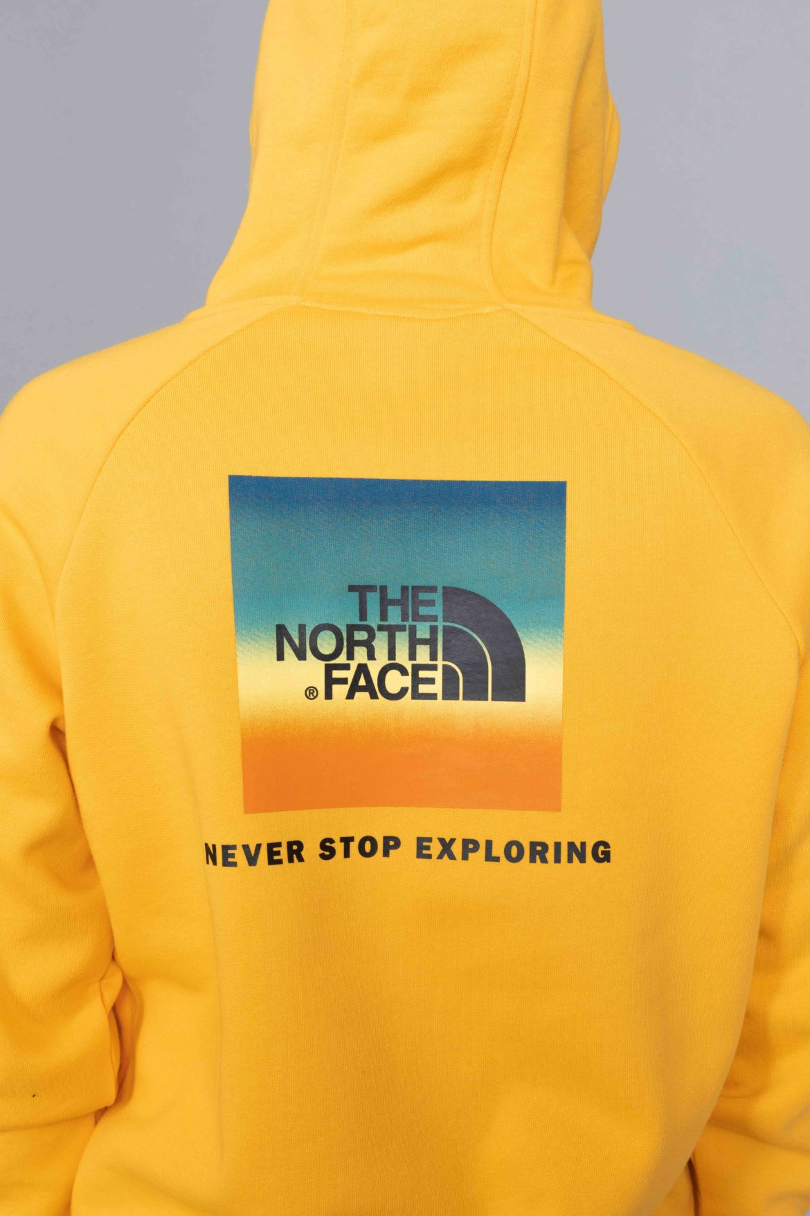 The North Face Raglan Red Box Hoodie Citrus Yellow Sunset Centrevillestore
