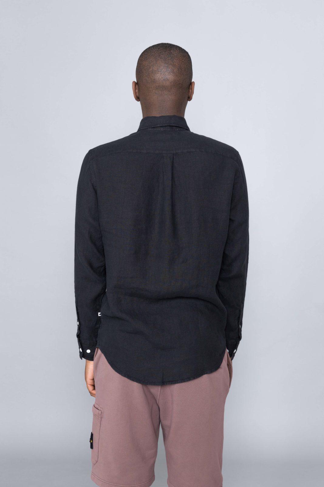 Levon Linen Shirt Black